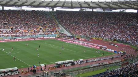 Oranje-support van supporters Roma