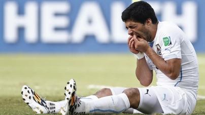 Luis Suarez laat zich wederom van slechte kant zien