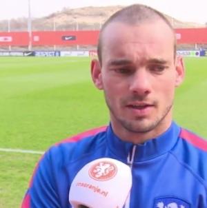 Sneijder: 'Moeten een voorbeeld nemen aan de Belgen'