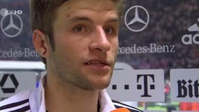 Müller plaagt Robben met Oranje: 'Wanneer kan het anders?'