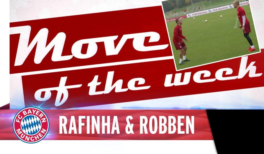 Robben en Rafinha goochelen met de bal