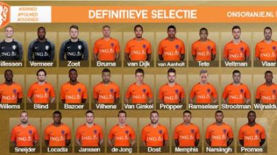 Definitieve selectie Oranje voor oefeninterlands: Ramselaar zit er in!